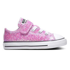 Converse Chuck Taylor All Star Glitter Low Top Toddlers Shoes Pink / White US 4, , rebel_hi-res