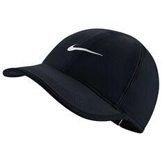 Nike Womens Featherlight Cap Black / White OSFA, , rebel_hi-res