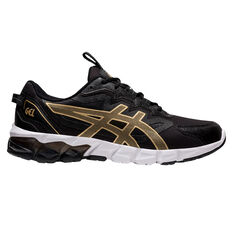 Asics GEL Quantum 90 Mens Casual Shoes Black/Gold US 7, Black/Gold, rebel_hi-res