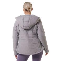 Ell & Voo Womens Masey Quilted Jacket Grey XXS, Grey, rebel_hi-res