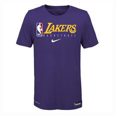 Nike Los Angeles Lakers 2019/20 Kids Practice Tee Purple S, Purple, rebel_hi-res