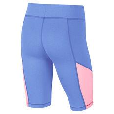 Nike Girls Trophy Bike Shorts Blue/Pink XS, Blue/Pink, rebel_hi-res