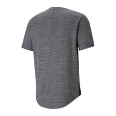 Puma Mens Cloudspun Short Sleeve Training Tee Grey L, Grey, rebel_hi-res