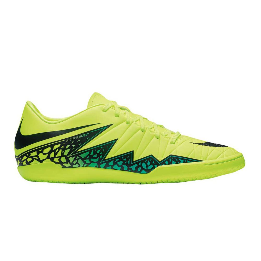 41f6b4b3eae7 Nike Hypervenom Phelon II Mens Indoor Soccer Shoes Volt   Black US 10  Adult