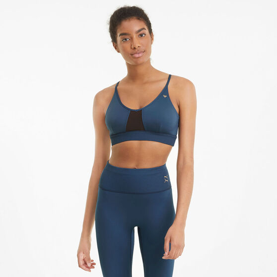 Puma Womens Exhale Studio Sports Bra, Blue, rebel_hi-res