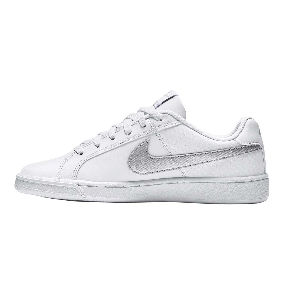 release date: 06bc2 bf6b1 Nike Court Royale Womens Casual Shoes White   Silver US 6, White   Silver,