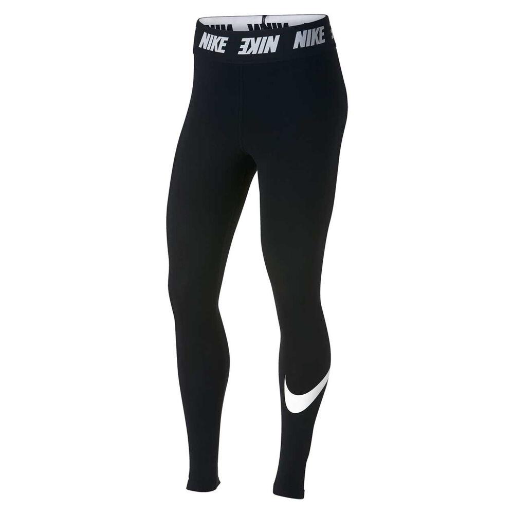 breaking Dawn past Nationwide  Nike Womens Sportswear High Waisted Leggings Black / White XS   Rebel Sport