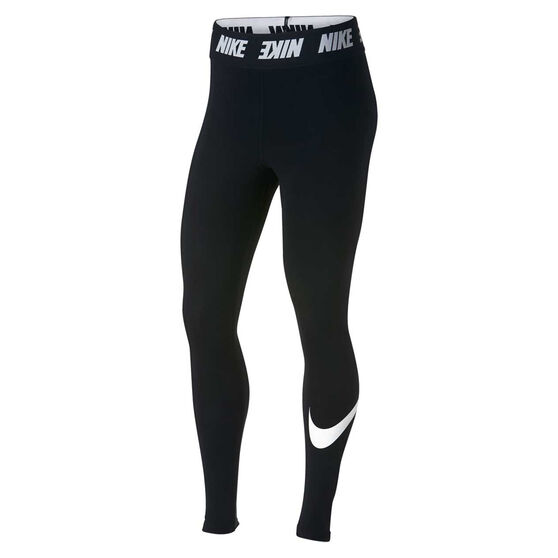 Nike Womens Sportswear High Waisted Leggings Black White Xs Rebel Sport