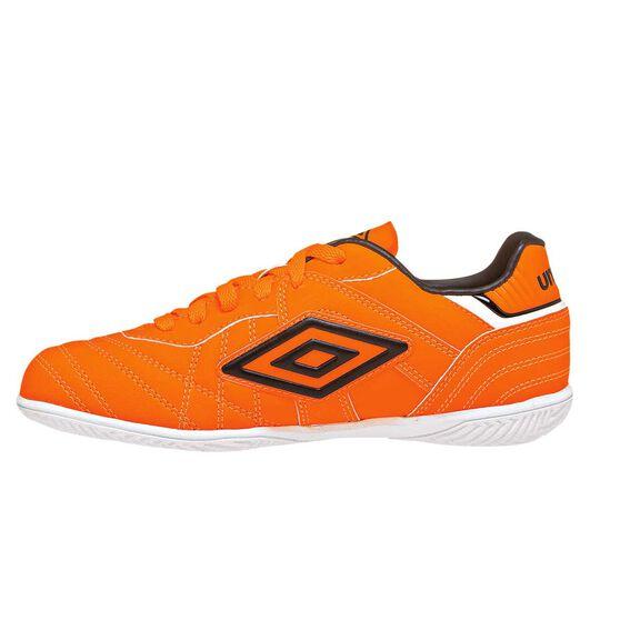 581953205 Umbro Speciali Eternal Club Junior Indoor Soccer Shoes Orange   White US 4
