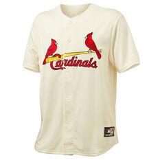 St. Louis Cardinals Mens Wordmark Replica Jersey Off White S, , rebel_hi-res