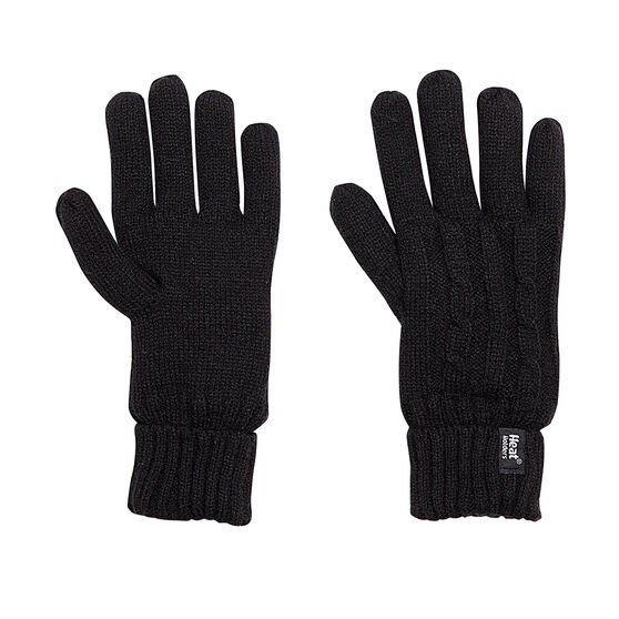 Heat Holders Womens Original Thermal Gloves, Black, rebel_hi-res
