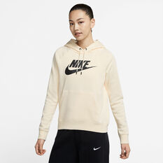 Nike Womens Sportswear Essential Fleece Pullover Hoodie White XS, White, rebel_hi-res