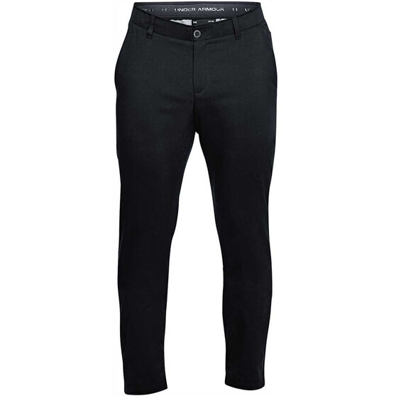 Under Armour Mens Showdown Tapered Golf Pants, Black, rebel_hi-res