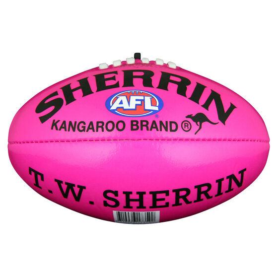Sherrin Soft Touch Junior Australian Rules Ball  Pink 8in, , rebel_hi-res