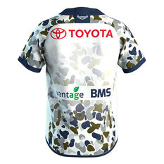 North Queensland Cowboys 2020 Kids Defence Jersey White 6, White, rebel_hi-res