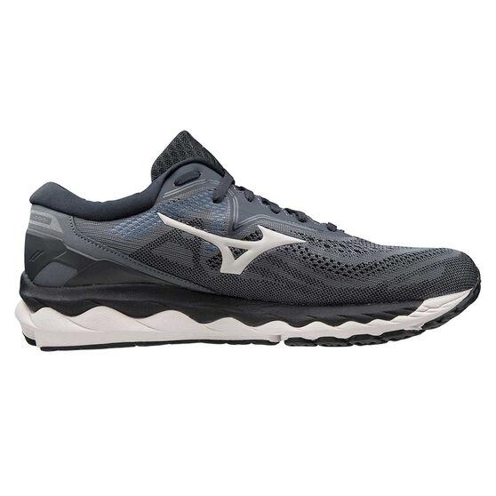 Mizuno Wave Sky 4 Mens Running Shoes, Grey/Blue, rebel_hi-res