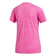 adidas Womens Prime 3 Stripe Tee Pink XS, Pink, rebel_hi-res