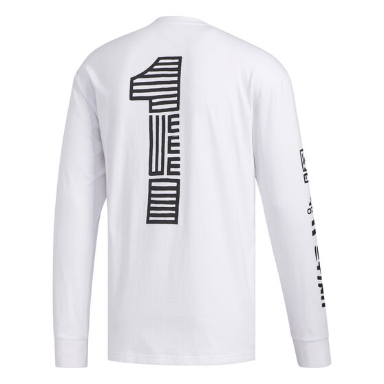 adidas Mens One Team Longsleeve Tee, White, rebel_hi-res