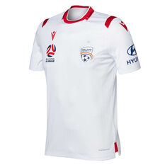 Adelaide United 2019/20 Mens Away Jersey White S, White, rebel_hi-res