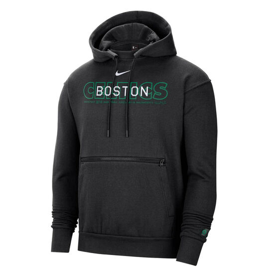Boston Celtics Courtside Nike Mens Hoodie, Black, rebel_hi-res