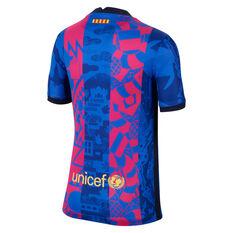 FC Barcelona 2021/22 Kids Replica 3rd Jersey Blue/Red XS, Blue/Red, rebel_hi-res