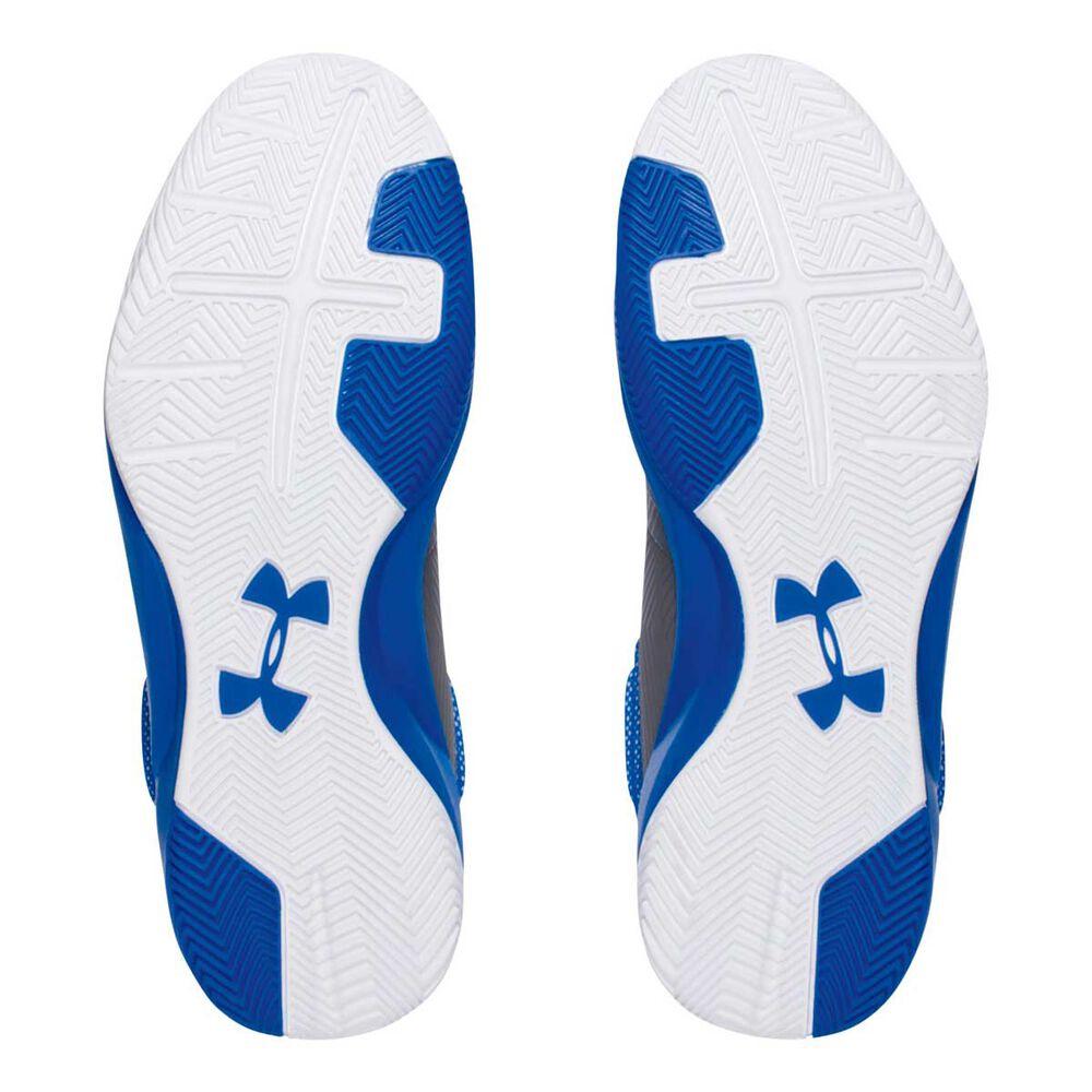 1dcf235874456 Under Armour Rocket Mens Basketball Shoes Grey   Blue US 10.5 ...