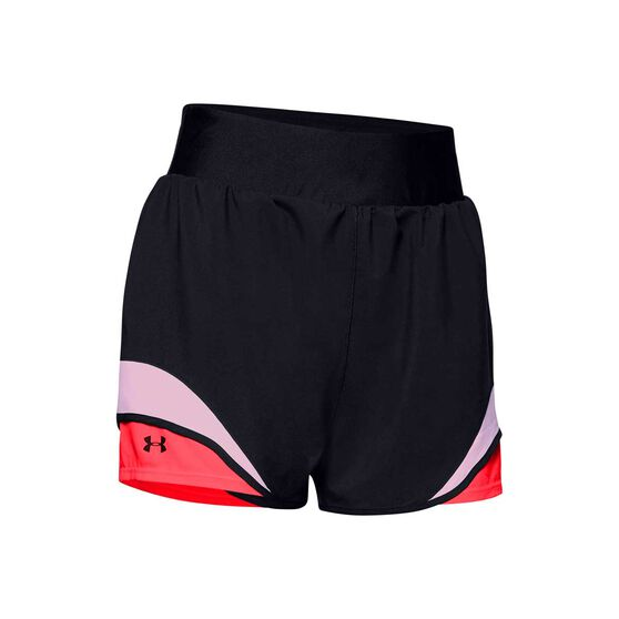 Under Armour Womens Warrior Shorts, Black, rebel_hi-res