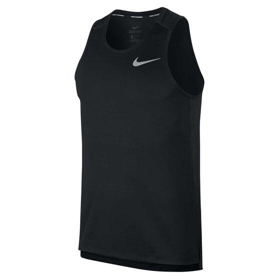 Nike Mens Dri-FIT Miler Running Tank, Black, rebel_hi-res