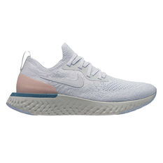 Nike Epic React Flyknit Womens Running Shoes White / Pink US 6, White / Pink, rebel_hi-res