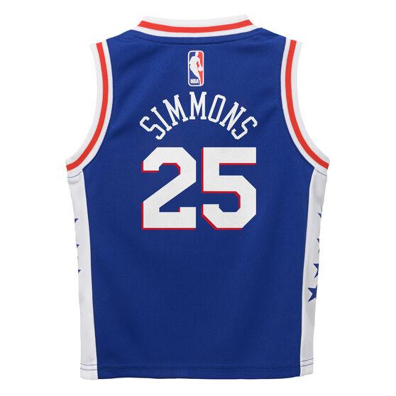 Nike Philadelphia 76ers Ben Simmons Icons 2019 Infants Swingman Jersey, Blue / White, rebel_hi-res