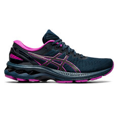Asics GEL Kayano 27 Lite Show Womens Running Shoes Blue/Silver US 6, Blue/Silver, rebel_hi-res