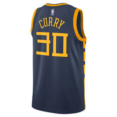 Nike Golden State Warriors Steph Curry 2019 Mens City Jersey Navy S, Navy, rebel_hi-res