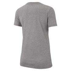 Nike Womens Dri-FIT Training Tee Grey XS, Grey, rebel_hi-res