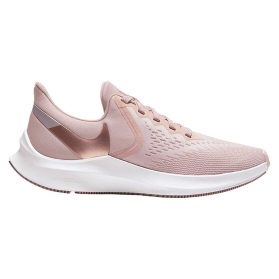 Nike Air Zoom Winflo 6 Womens Running Shoes, Pink / Rose Gold, rebel_hi-res