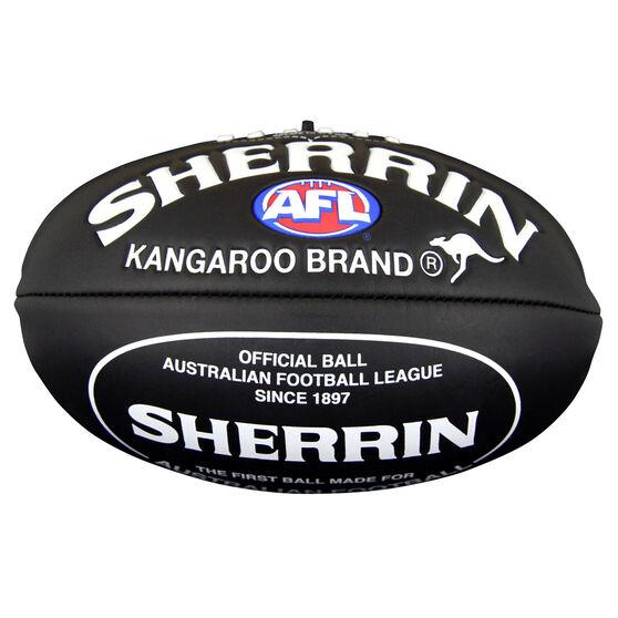 Sherrin Super Soft Touch Junior Australian Rules Ball Black 8in, , rebel_hi-res