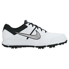 Nike Durasport 4 Mens Golf Shoes White / Silver US 8, White / Silver, rebel_hi-res