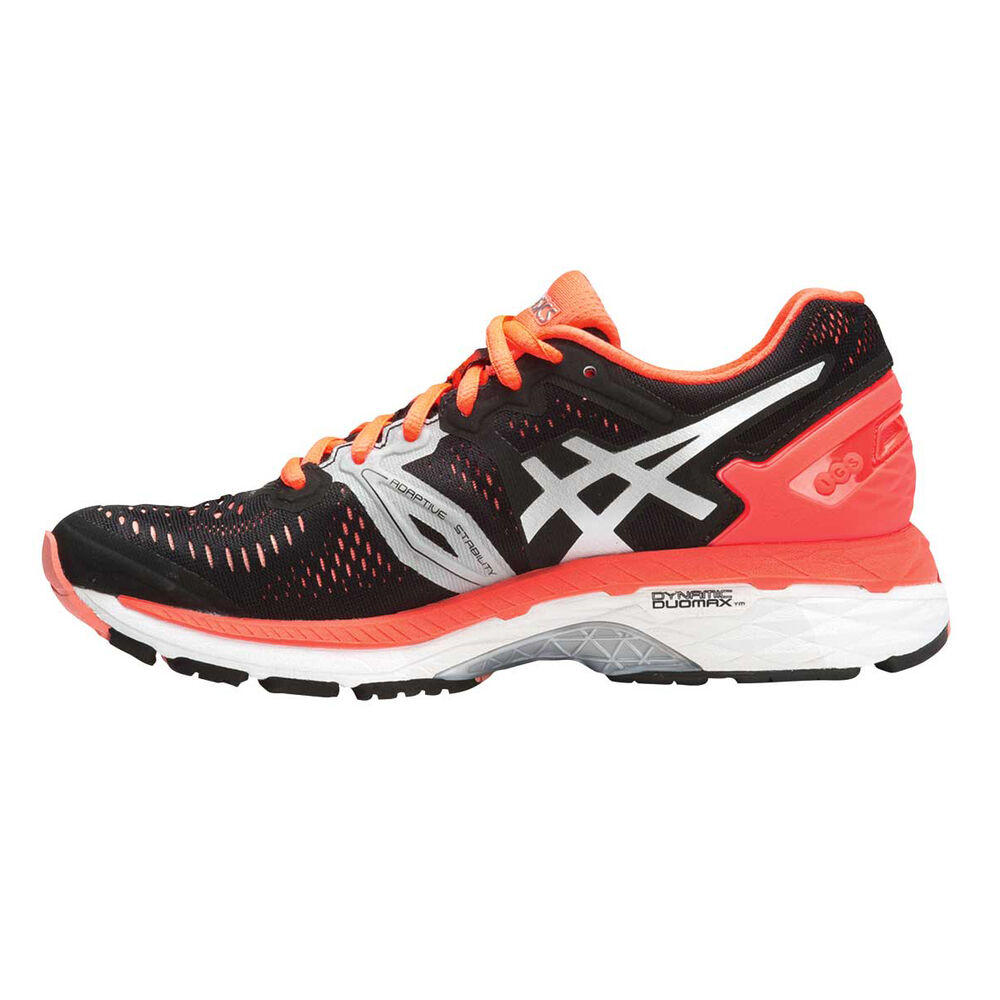 996d3321d979 Asics Gel Kayano 23 B Womens Running Shoes Black   Orange US 6.5 ...