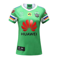 Canberra Raiders 2020 Womens Home Jersey, Green, rebel_hi-res