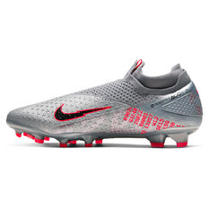 Nike Phantom Vision II Elite Football Boots Silver/Red US Mens 6 / Womens 7.5, Silver/Red, rebel_hi-res
