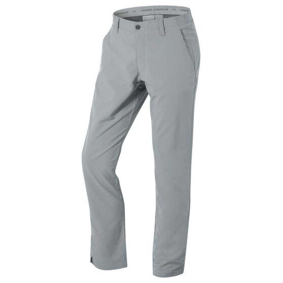 Under Armour Mens Matchplay Tapered Golf Pants, Grey, rebel_hi-res