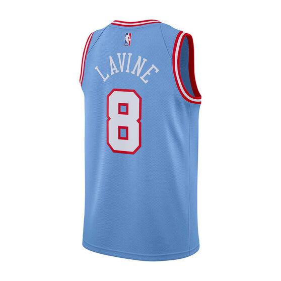 Nike Chicago Bulls Zach LaVine 2019/20 Mens City Edition Swingman Jersey Blue XL, Blue, rebel_hi-res