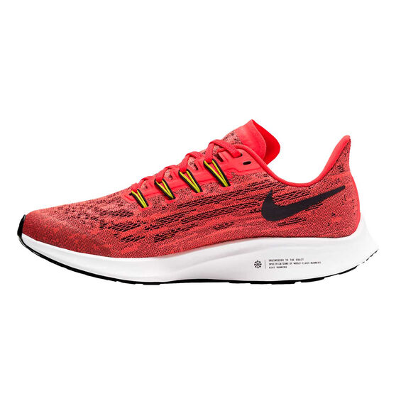 Nike Air Zoom Pegasus 36 Kids Running Shoes, Red/White, rebel_hi-res