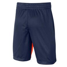Nike Boys Dri-FIT Trophy Shorts Blue XS, Blue, rebel_hi-res