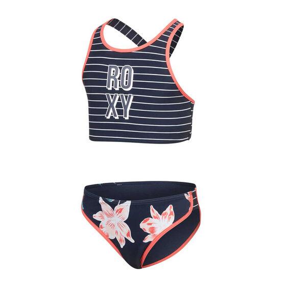Roxy Girls Shore Crop Two Piece Swimsuit, , rebel_hi-res
