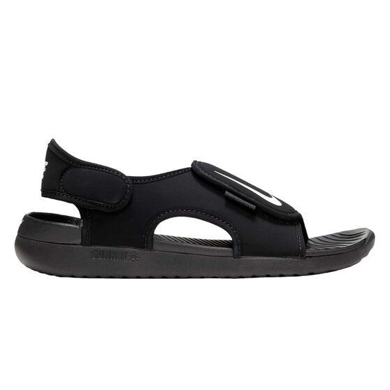 Nike Sunray Adjust 5 V2 Kids Sandals, Black, rebel_hi-res