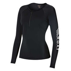 Roxy Womens Keep It Roxy Long Sleeve Rash Vest Anthracite XS Adults, Anthracite, rebel_hi-res