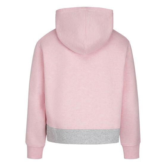 Nike Girls Air Colour Blocked Hoodie, Pink, rebel_hi-res