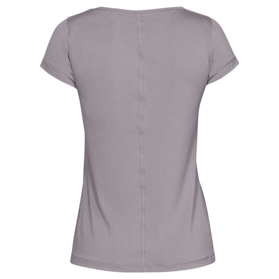 Under Armour Womens HeatGear Armour Tee, Grey, rebel_hi-res