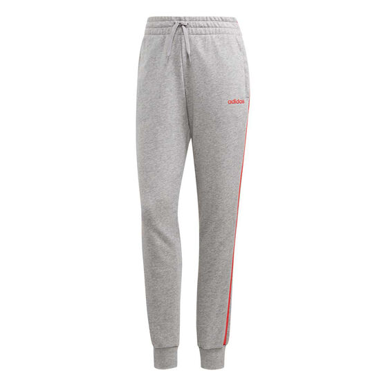 adidas Womens Essentials 3-Stripes Track Pants, Grey, rebel_hi-res