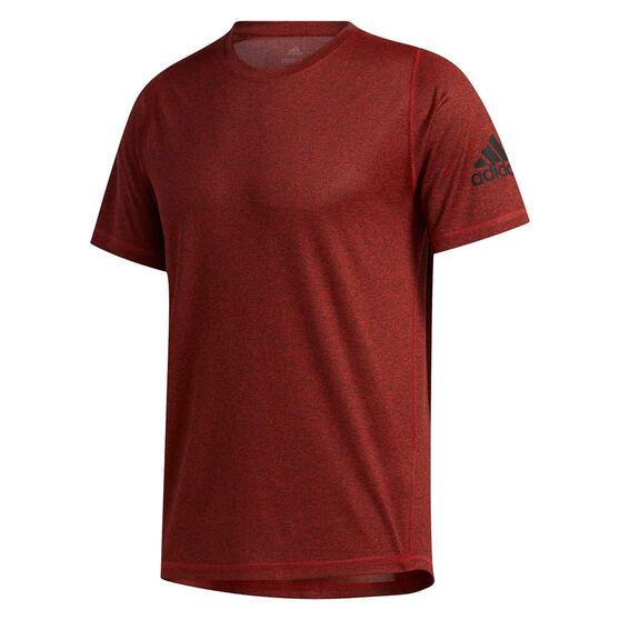 adidas Mens FreeLift Sport Ultimate Heather Tee, Red, rebel_hi-res